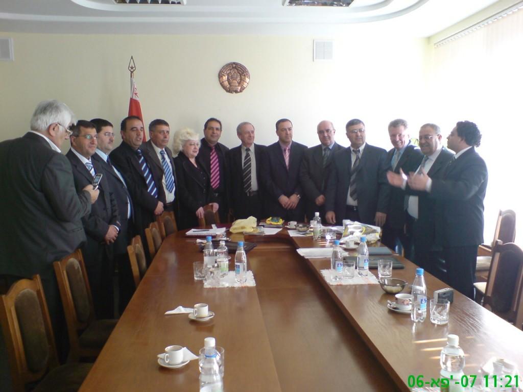 משלחת מטעם העמותה הדרוזית לקידום קשרי חוץ נפגשת עם שר החינוך הבילארוסי במינסק